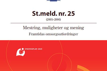 Ingressbilde St.meld. nr. 25 Mestring, muligheter og mening