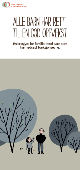 Omslagsbilde av brosjyren Alle barn har rett til en god oppvekst, norsk versjon