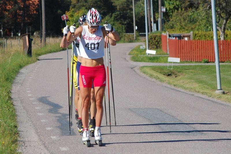Annika Löfström på väg mot överlägsen seger i UVK-rullen. FOTO: UVK-rullen.