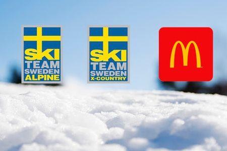 McDonald's och Svenska Skidförbundet fortsätter samarbeta. Ett nytt avtal mellan parterna gäller fram till mitten av 2020. FOTO: Svenska Skidförbundet.