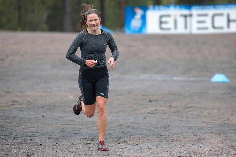 Maja Majbäck vann Lidingöloppets F 19-klass. Här är Maja under Dundret Extreme Running tidiagre i år. FOTO: Yngve Johansson, Imega Promotion.