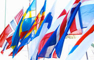 Bilde av den nordiske lands flagg