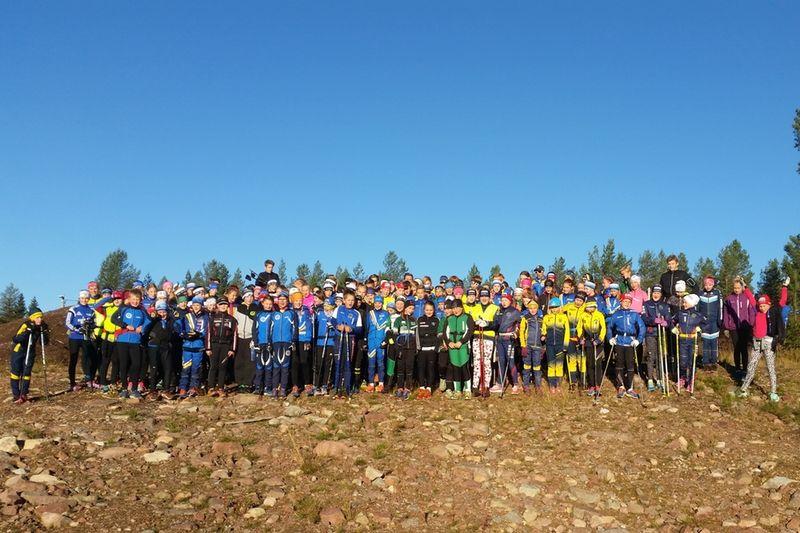 Hela 158 ungdomar deltog på Dalarnas Skidförbunds alläger i Grönklitt i helgen. FOTO: Dalarnas Skidförbund.