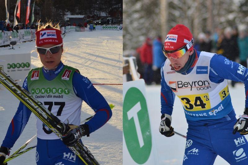 Anna Haag och Emil Jönsson lämnar IFK Mora SK strax innan starten på skidsäsongen. FOTO: IFK Mora SK.