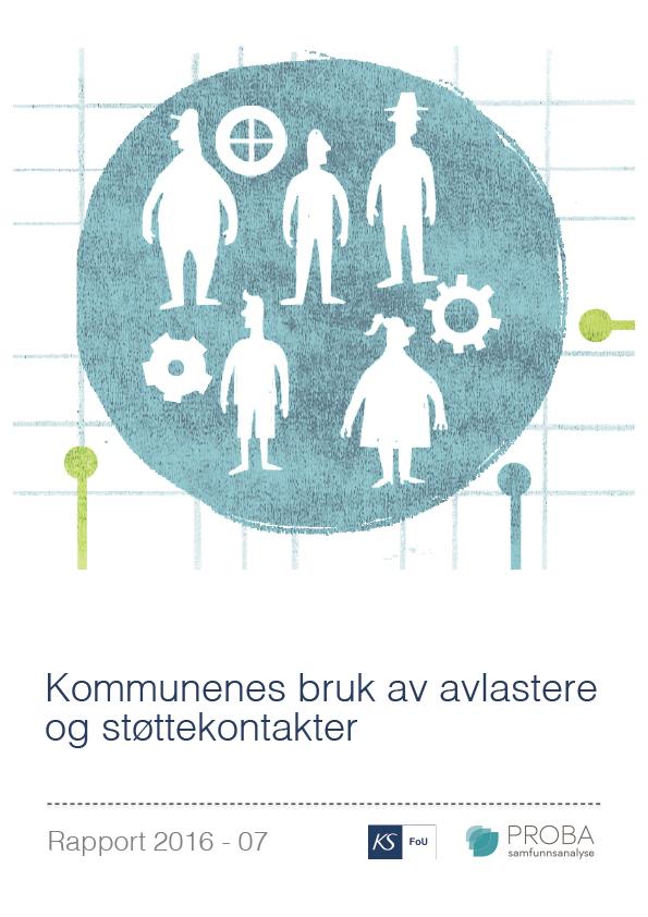 Omslagsbilde på Rapport om Kommunenes bruk av avlastere og støttekontakter