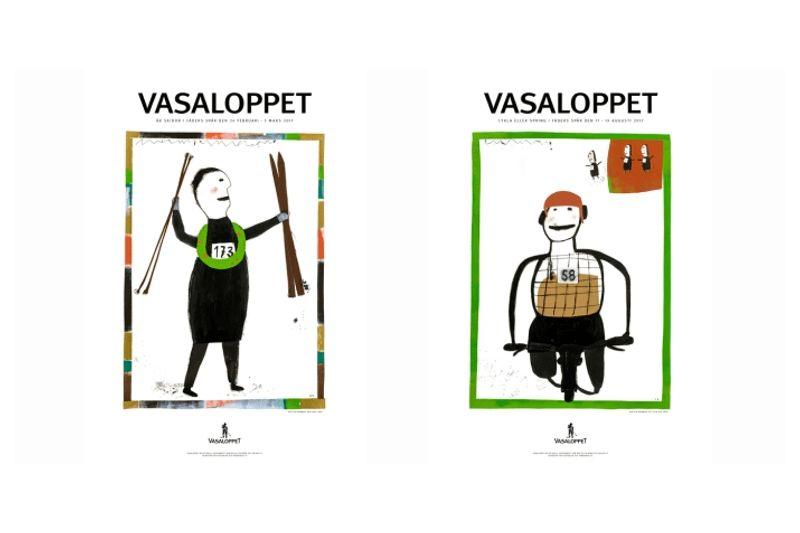 På torsdagens presenterades 2017-års officiella Vasaloppsmotiv av konstnären Kerstin Bergman. FOTO: Vasaloppet.