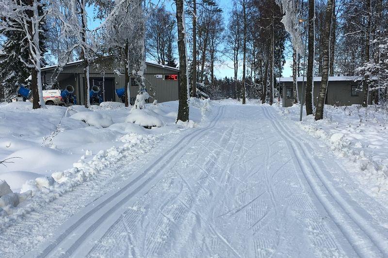Falköpings skideldorado Mösseberg bjuder på fina förhållanden just nu. FOTO: Falköpings AIK SK.