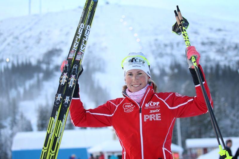 Långloppsspecialisten Katerina Smutna övertygade i Gällivarepremiären med seger för favoriten och landsmaninnan Petra Novakova. FOTO: Yngve Johansson, Imega Promotion.