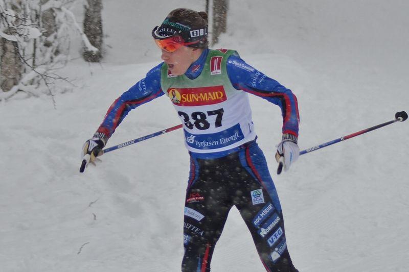 Ebba Andersson mot seger i Bruksvallarna. FOTO: Johan Trygg/Längd.se.