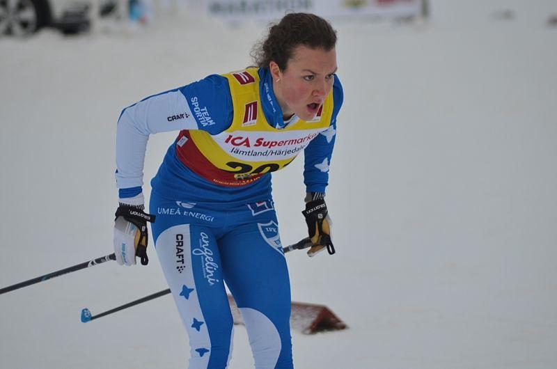 IFK Umeås Moa Lundgren tog hem prologen i D 17-20. FOTO: Johan Trygg/Längd.se.