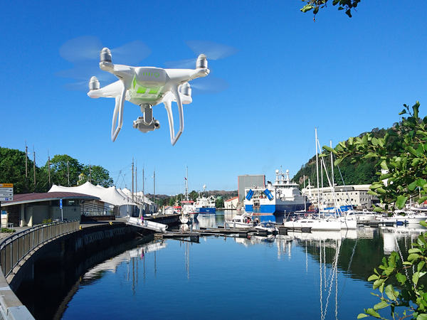 Drone over Egersund