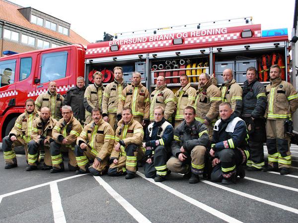 Brann og redning mannskap