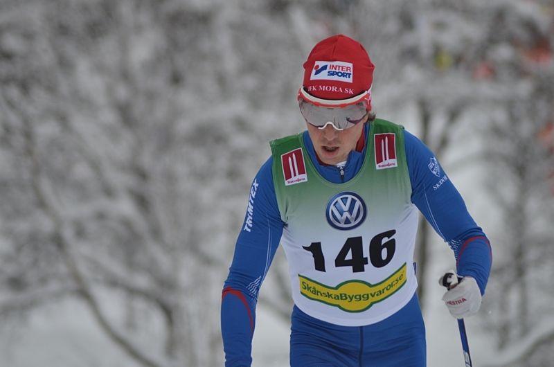 Martin Johansson vann dagens 15 kilometer fri stil i Idre. Bilden från premiären i Bruksvallarna. FOTO: Johan Trygg/Längd.se.
