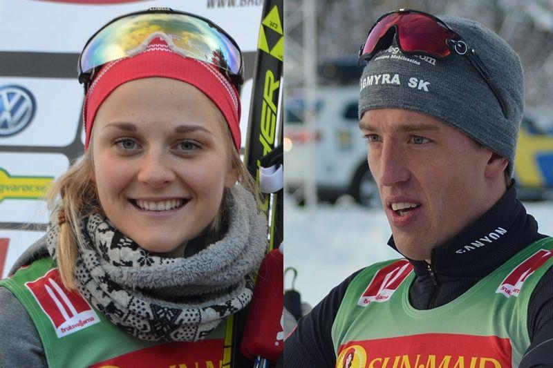 Stina Nilsson och Calle Halfvarsson toppar världscupen efter helgens tävlingar i finska Ruka. FOTO: Längd.se.