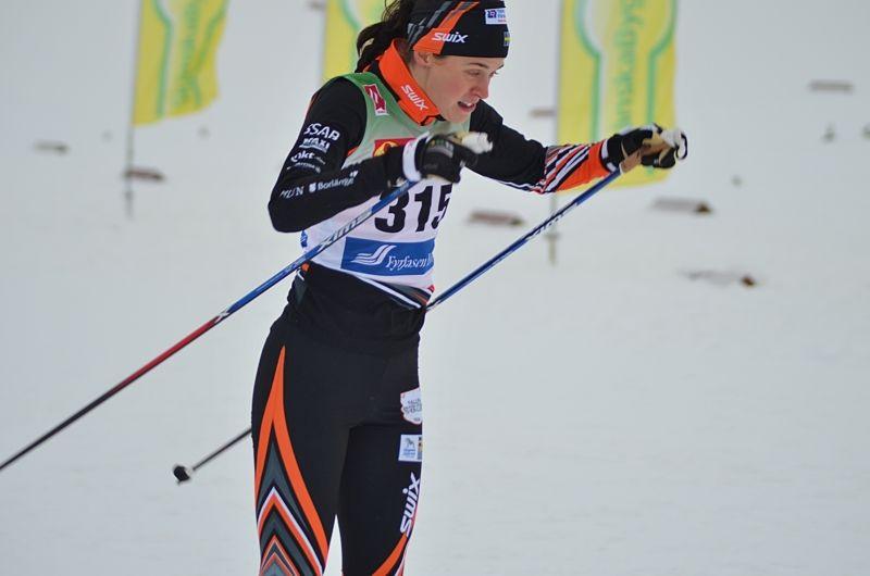 Anna Dyvik vann Skandinaviska cupens sprint i Lillehammer. Bilden från säsongspremiären i Bruksvallarna. FOTO: Johan Trygg/Längd.se.