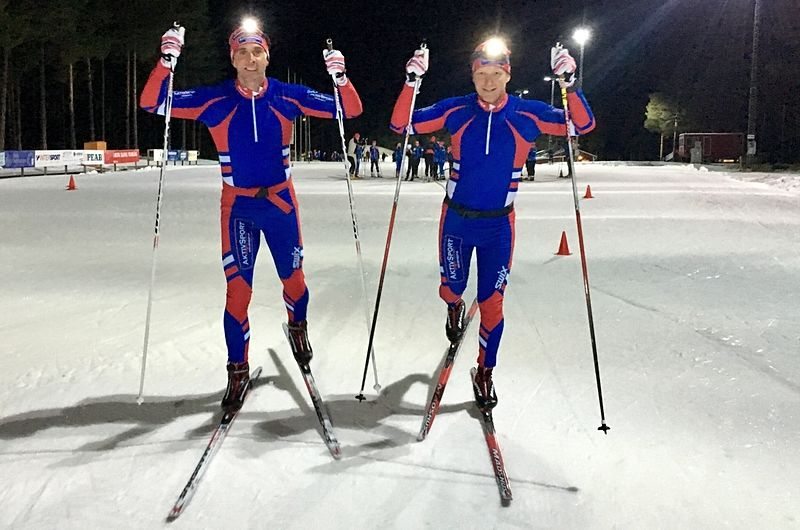 Staffan Larsson och Toni Kinnunen siktar på att åka Nattvasan snabbare än när Staffan vann Vasaloppet 1999. FOTO: Aktiv Sport.