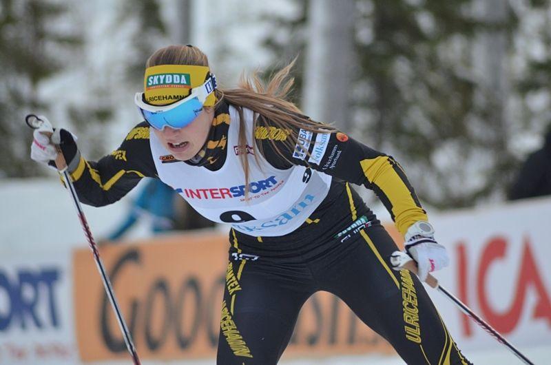 Maria Nordström, Ulricehamns IF, leder Intersport Cup inför helgens tre deltävlingar i Boden. FOTO: Johan Trygg/Längd.se.