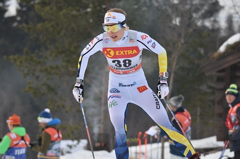 Stina Nilsson fin fyra i La Clusaz efter tre norskor. FOTO: Rolf Zetterberg.