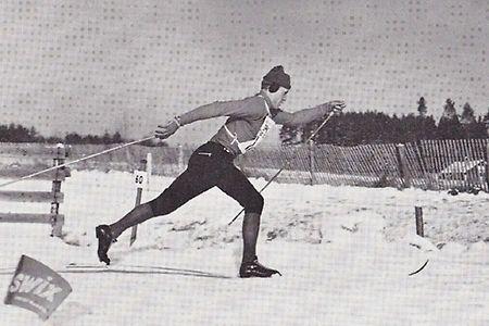 """Föllingeloppet återuppstår den 7 januari. Loppet som på 60- och 70-talet var OS- och VM-uttagning. Här illustrerat av skidlegendaren Ragnar """"Föllinge"""" Persson i sin glans dagar på 60-talet. FOTO: Kjell Bollnert, Östersunds-Posten."""