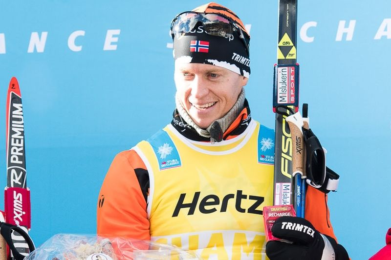Petter Eliassen kan inte försvara segern på Kaiser Maximilian Lauf då han insjuknat. FOTO: Visma Ski Classics.