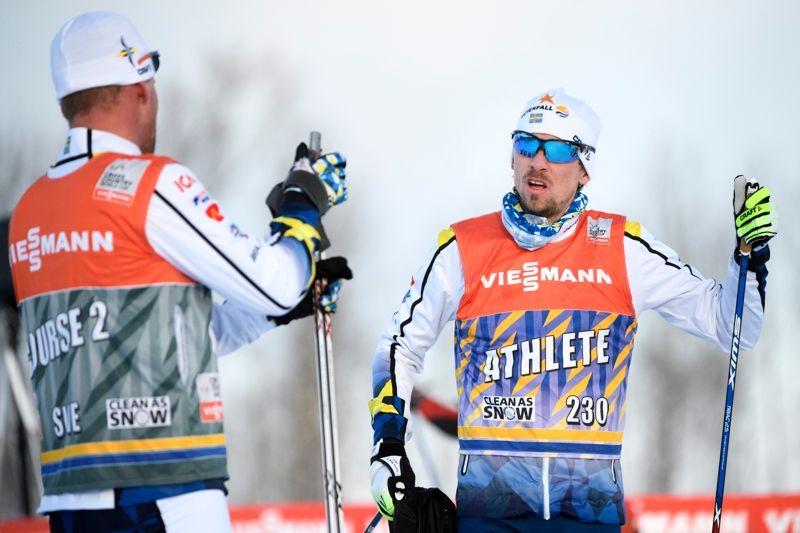 Johan Olsson under fredagens träning i välrldscupspåren i Ulricehamn. FOTO: Carl Sandin/Bildbyrån.