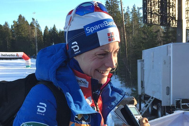 Astrid Uhrenholdt Jacobsen fick precis stryk av Charlotte Kalla men var glad ändå och imponerad av Ulricehamn som världscuport. FOTO: Johan Trygg/Längd.se.