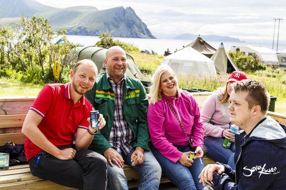 Nord-Norges fineste festivalcamp? Med vannklosett og dusj Foto: Kine Aasheim, Sørøyrocken