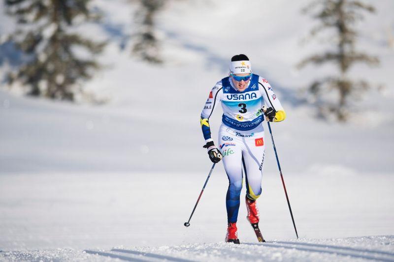Anna Dyvik står över den avslutande loppet vid U23-VM på grund av slitna luftrör. FOTO: Joel Marklund/Bildbyrån.