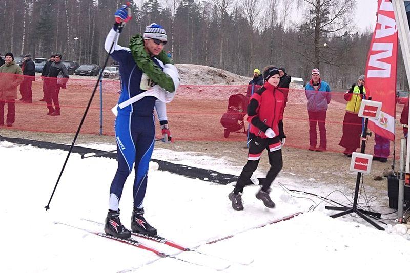 Comebackande veteranen P-O Svahn vann Stråkenloppet i Mullsjö i stor stil. FOTO: Mullsjö SOK.