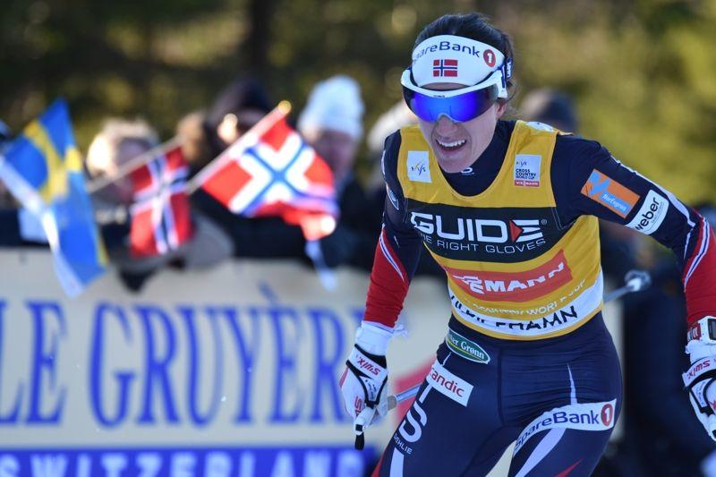 Heidi Weng vann första etappen av Toppidrettsveka på torsdagskvällen. FOTO: Rolf Zetterberg.