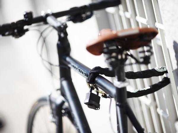 Fahrradschloss am Fahrrad