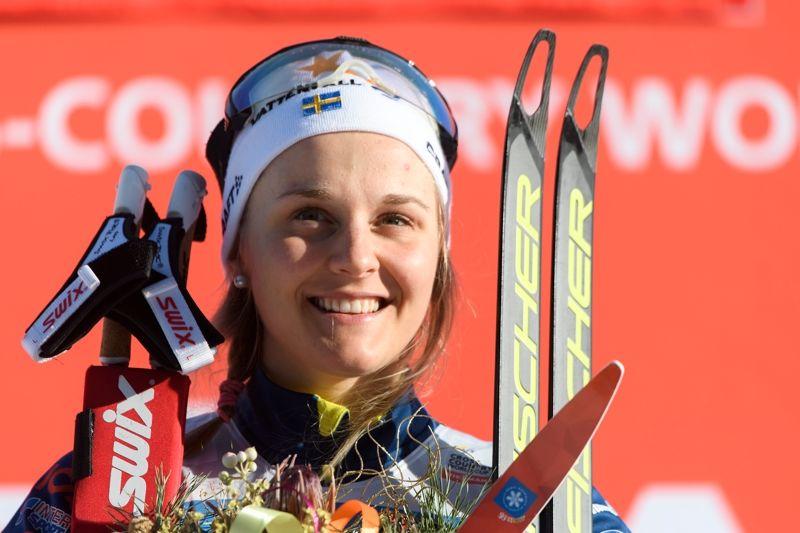 Stina Nilsson var snabbast av svenkorna vid prologen i Drammen. . FOTO: Carl Sandin/Bildbyrån.