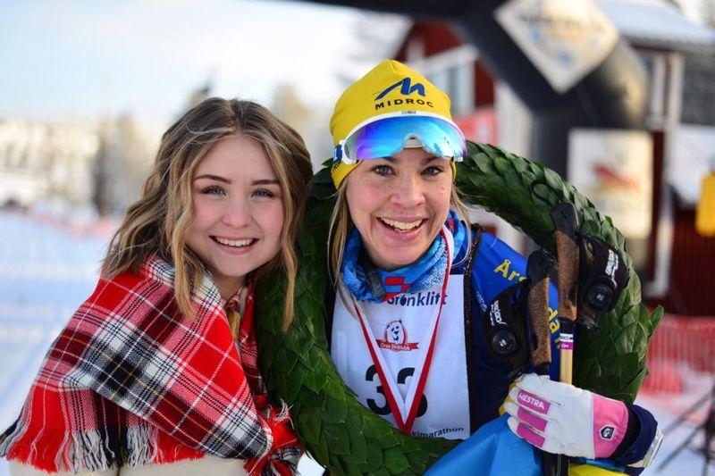 Annika Löfström visade fin form i Bessemerloppet och solovann i stor stil. Bilden dock från hennes seger i Orsa Grönklitt Ski Marathon häromveckan. FOTO: Orsa Grönklitt Ski Marathon.