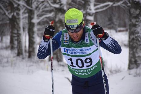 Martin Rosvall åkte i mål som trea. FOTO: Leif Stening.