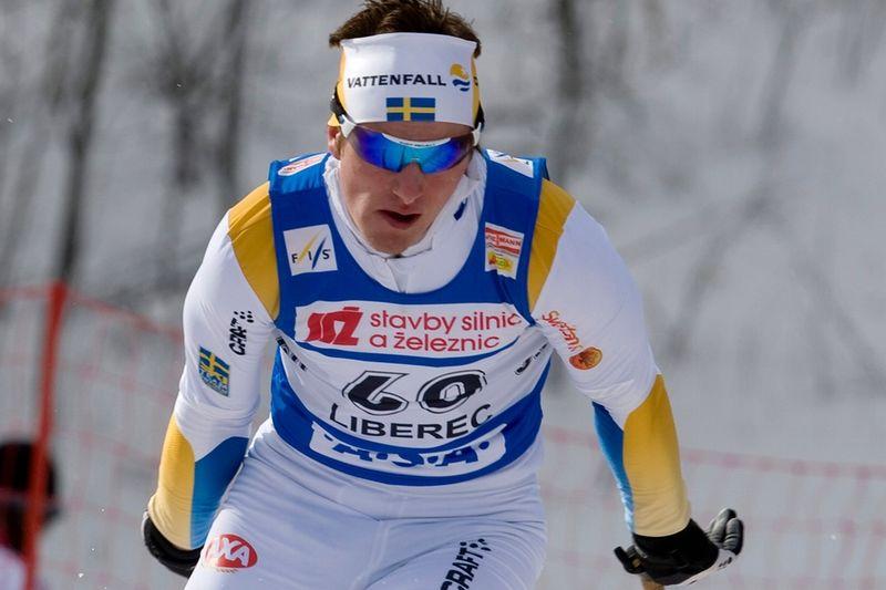 Fredrik Karlsson på världscupen i Liberec 2008. FOTO: Arne Forsell/Bildbyrån.