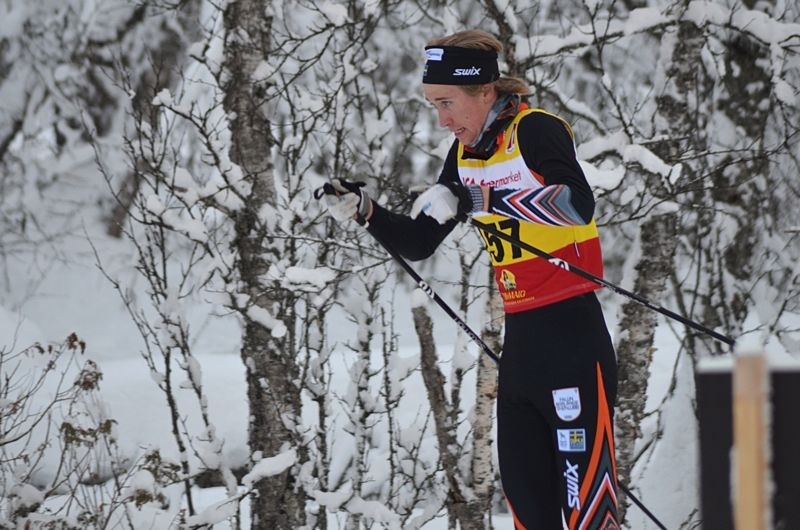 Jonas Eriksson åkte starkt i milloppet på JSM och vann med över halvminutens marginal. FOTO: Johan Trygg/Längd.se.
