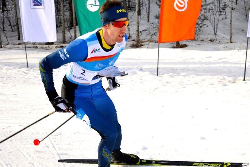Sverige fick nöja sig med silver när VM i skidorientering avslutades med stafett. Här Sveriges slutman Erik Rost. Bilden dock från hans guldlopp på långdistansen. FOTO: Nordenmark Adventure.
