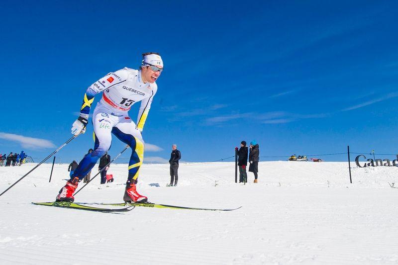 Marcus Hellner hade bäst åktid av alla under världscupavslutningens jaktstart i Quebec. FOTO: Johanna Lundberg/Bildbyrån.