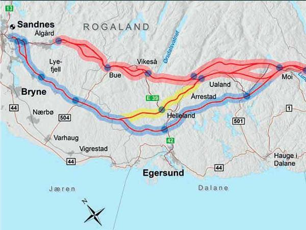 E39 Lyngdal vest–Sandnes
