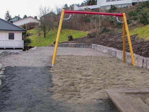 Oppgradering av lekeplassen innerst i Kløverveien