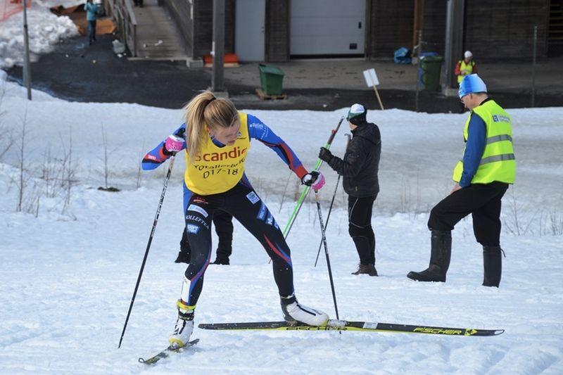 Frida Karlsson på väg mot storseger vid Scandic cup-finalen i Umeå. FOTO: Arrangören.