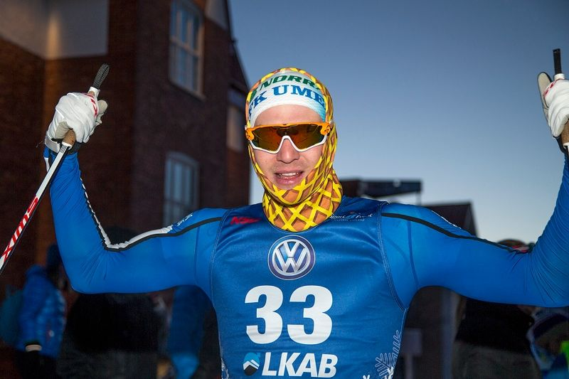 Marcus Grate var starkast på Gällivare Citysprint. FOTO: Yngve Johansson, Imega Promotion.