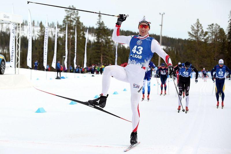 Anders Svanebo har verkligen vårform och körde hem NSD Classic i Gällivare idag. FOTO: Michael Renström, Imega Promotion.