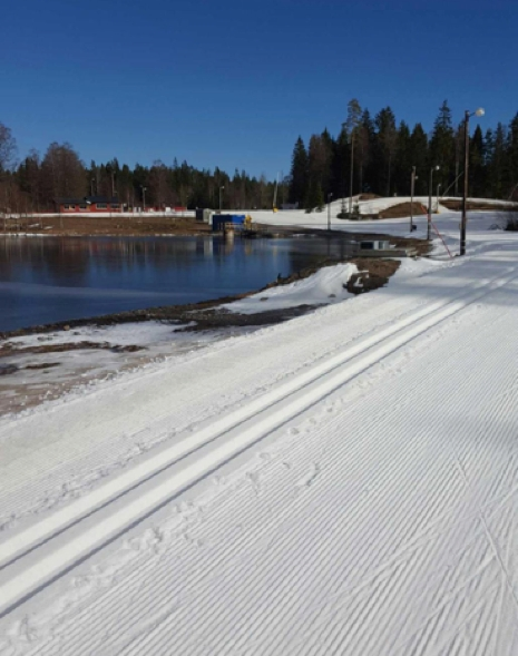 Fina förhållanden 12 mars. FOTO: Tranemo IF Skidklubb.