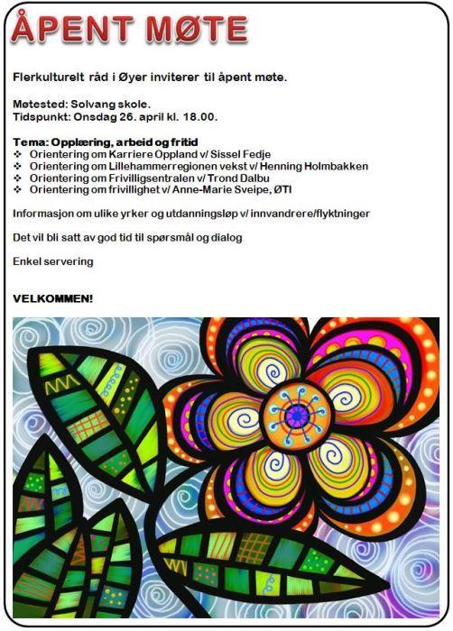 Flerkultur - Åpent møte 26.4.