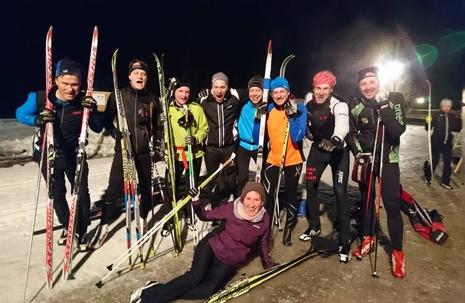 Glatt Träna för Vasan-gäng vid Rudan i vintras. FOTO: Träna för Vasan.