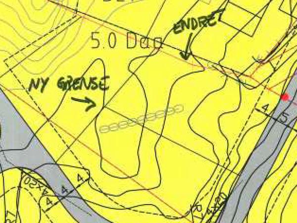 Kart over Hestnes