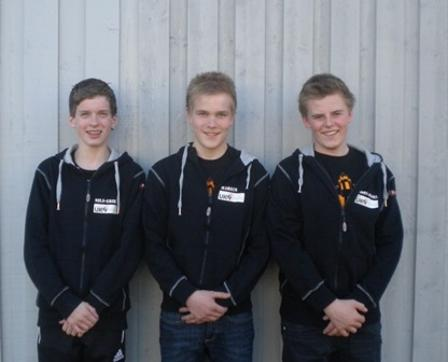 F.v. Nils Erk Brandsæther, Markus Sørfjordmo og Jørn-Aksel Løkås Johnsen