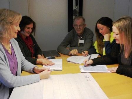 Gruppearbeid med ledere