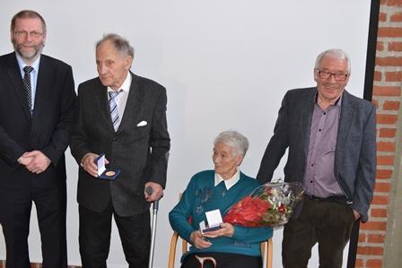 F.v. ordfører Lars Evjenth, Håkon Skar, Edit Sletten og Ole Henrik Fagerbakk